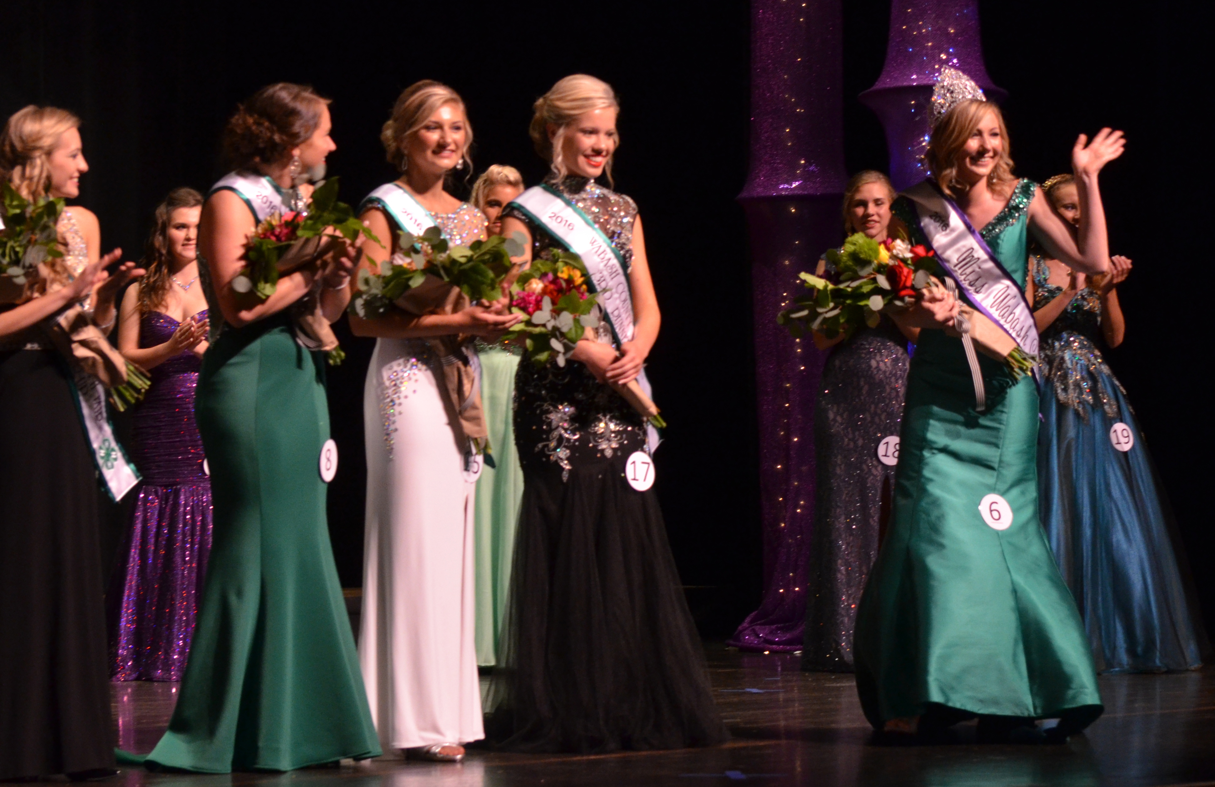Indiana wabash county lagro - Wabash County 4 H Fair Queen Jordan Michel Waves To The Crowd As Members Of Her Court And Other Contestants Look On Wednesday Night July 6