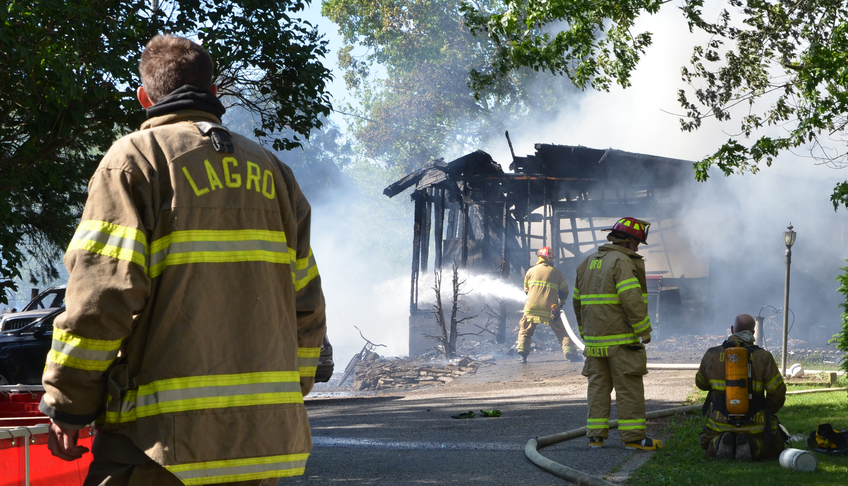 Indiana wabash county lagro - Lagro Volunteer Firefighters And Personnel From Five Other Area Fire Departments Assisted Noble Township Fire Department In Dousing A House Fire That