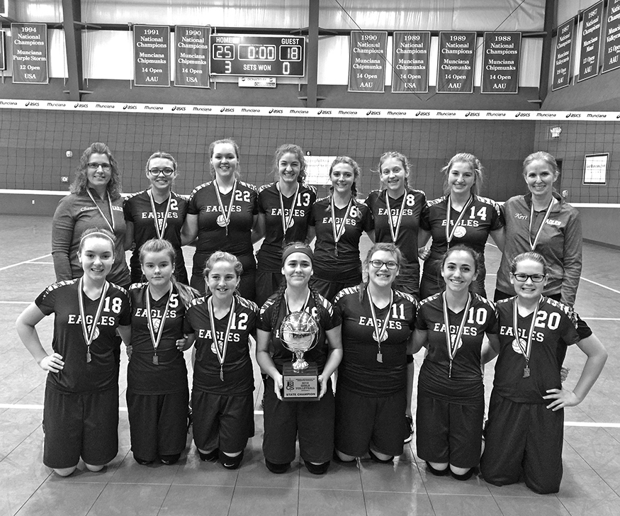 a14ac9544 Emmanuel Christian School s volleyball squad recently won its third  straight Indiana Asssociation of Christian Schools state volleyball  tournament.