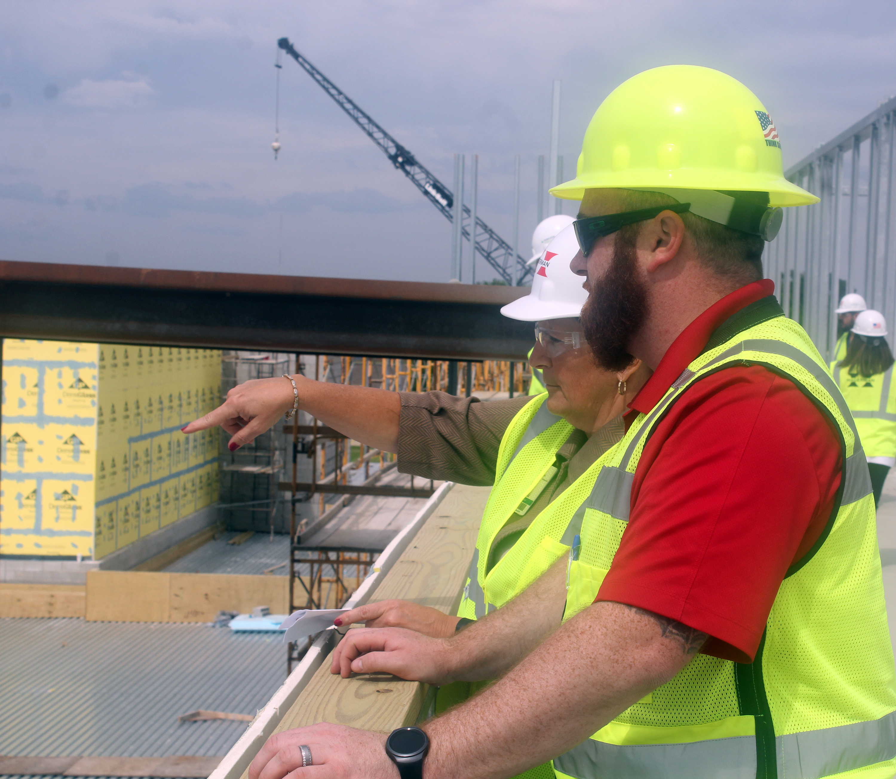 Indiana wabash county lagro - Parkview Wabash Hospital President Marilyn Custer Mitchell And Construction Manager Adam Whitmer Go Over Details At The Site Of The New Parkview Wabash